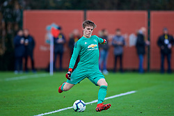 KIRKBY, ENGLAND - Saturday, January 26, 2019: Manchester United's goalkeeper James Thompson during the FA Premier League match between Liverpool FC and Manchester United FC at The Academy. (Pic by David Rawcliffe/Propaganda)