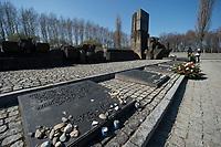 09 APR 2012, KRAKOW/POLAND:<br /> Internationales Mahnmal für die Opfer des Faschismus, Staatliches polnisches Museum / Gedenkstaette des ehem. Konzentrationslager Ausschitz-Birkenau<br /> IMAGE: 20120409-01-0<br /> KEYWORDS: Krakau, KZ, Vernichtungslagers Auschwitz II–Birkenau, Polen