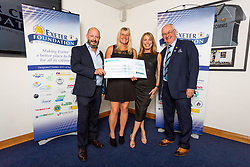 The Exeter Athletic Rugby Charity receives their cheque - Ryan Hiscott/JMP - 06/08/2018 - RUGBY - Sandy Park - Exeter, England - Exeter Chiefs Season Launch Dinner