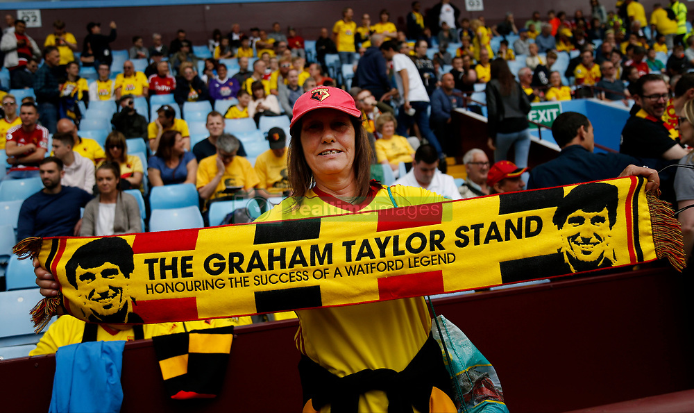 A Watford fan before the Graham Taylor tribute match at Villa Park, Birmingham.