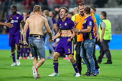 Blaz Vrhovec of NK Maribor celebrates after football match between NK Maribor and Hapoel Beer-Sheva in Second leg of UEFA Champions League playoff round, on August 22 2017 in Ljudski vrt, Maribor, Slovenia. Photo by Morgan Kristan / Sportida