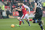 Anthony Forde (Rotherham United) runs into the Blackburn box during the EFL Sky Bet Championship match between Rotherham United and Blackburn Rovers at the AESSEAL New York Stadium, Rotherham, England on 11 February 2017. Photo by Mark P Doherty.