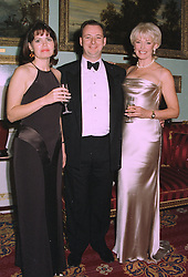 Left to right, MR & MRS TIM MORAN and his mother DIANA MORAN the TV personality,  at a reception in London on 22nd September 1997.MBK 17