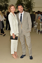 ARIZONA MUSE and BONIFACE VERNEY-CARRON at the Cartier Queen's Cup Final 2016 held at Guards Polo Club, Smiths Lawn, Windsor Great Park, Egham, Surry on 11th June 2016.