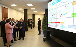 October 11, 2016 - Kovrov, Vladimir Region, Russia - October 11, 2016. - Russia, Vladimir Region, Kovrov. - Russian President Vladimir Putin visits the 'Dorograd' multimedia center in Kovrov. (Credit Image: © Russian Look via ZUMA Wire)
