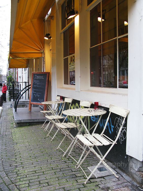 Sidewalk Cafe in Amsterdam