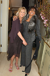 Left to right, LIZ BREWER and DAME SHIRLEY BASSEY  at a Conservative Party Reception for the Art held at 24 Thurloe Square, Lndon SW7 on 5th April 2005.<br />
