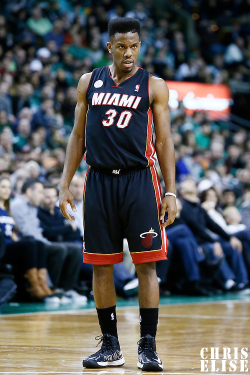 27 January 2013: Miami Heat point guard Norris Cole (30) is seen during the Boston Celtics 100-98  2OT victory over the Miami Heat at the TD Garden, Boston, Massachusetts, USA.
