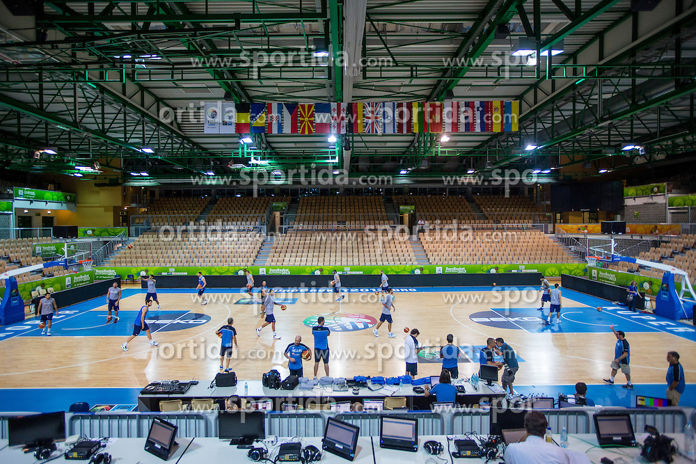 View on court at practice session of team Greece 1 day before the beginning of Eurobasket 2013 on September 3, 2013 in Arena Bonifika, Koper, Slovenia. (Photo by Matic Klansek Velej / Sportida.com)