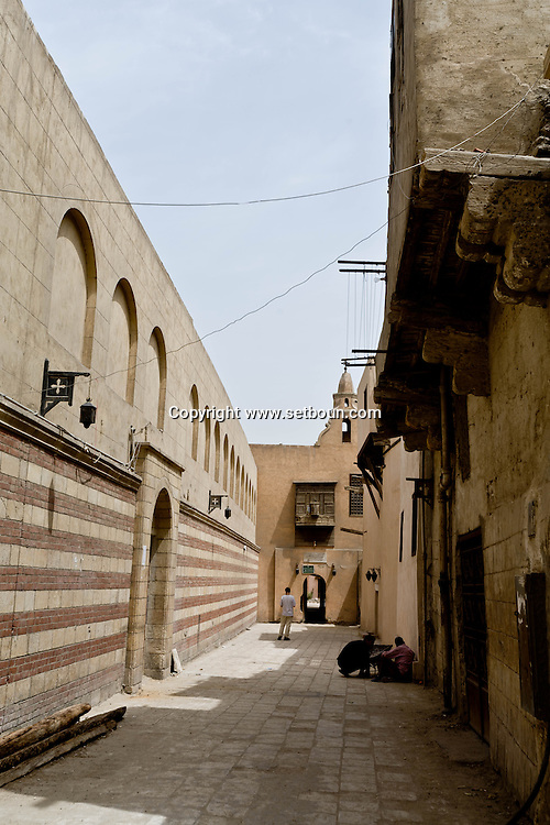 Egypt. Cairo - Saint Georges church - Mari Girgis - in the old Cairo. coptic area     + e