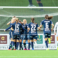 2019-10-13 | Malmö, Sweden: Linköpings FC celebrates 1-2 during the game between FC Rosengård and Linköpings FC at Malmö IP ( Photo by: Roger Linde | Swe Press Photo )<br /> <br /> Keywords: Malmö IP, Malmö, Soccer, OBOS Damallsvenskan, FC Rosengård, Linköpings FC, rl191013