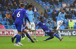 Riyad Mahrez of Manchester City scores his second goal. - Mandatory by-line: Alex James/JMP - 22/09/2018 -  FOOTBALL - Cardiff City Stadium - Cardiff, Wales -  Cardiff City v Manchester City - Premier League