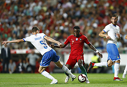 September 10, 2018 - Lisbon, Italy - Portugal v Italy - UEFA Nations League.Jorge Luiz Jorginho of Italy and Bruma of Portugal at Estadio da Luz in Lisbon, Portugal on September 10, 2018. (Credit Image: © Matteo Ciambelli/NurPhoto/ZUMA Press)
