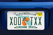 Vehicle registration plate on vehicle in Anna Maria Island, United States of America