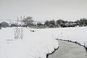 Durleigh Brook, on The Meads just outside Bridgwater, after heavy overnight snowfall.
