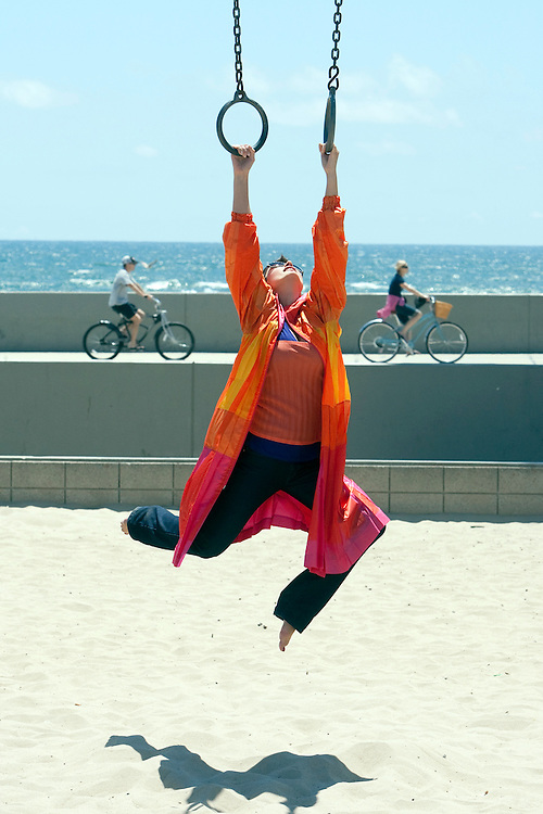 Polish actress Joanna Brodzik takes in the sites around Los Angeles.