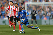 Leicester City midfielder NGolo Kante (14)  during the Barclays Premier League match between Leicester City and Southampton at the King Power Stadium, Leicester, England on 3 April 2016. Photo by Simon Davies.