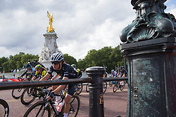 \amycur of Wiggle High5 Cycling Team leans into a corner during the Prudential RideLondon Classique - a 64.8 km road race, starting and finishing in central London on July 28, 2018, in London, United Kingdom. (Photo by Balint Hamvas/Velofocus.com)