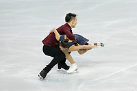 KELOWNA, BC - OCTOBER 26:  Feiyao Tang and Yongchao Yang of China compete in pairs free skate during Skate Canada International at Prospera Place on October 25, 2019 in Kelowna, Canada. (Photo by Marissa Baecker/Shoot the Breeze)
