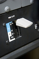 Electric flap switch on a Cessna 172