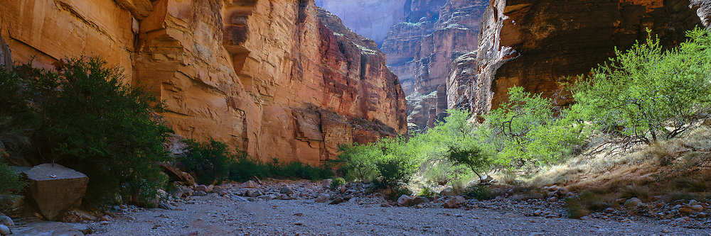 Morning light in National Canyon at river mile 166 in the Grand Canyon in Arizona