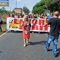 Manifestazione abitanti di Ponte Di Nona