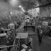The 7200 foot level machine shop in the Creighton Mine located in the Lively area in Sudbury, Ontario.<br /> (Credit Image: &copy; Louie Palu/ZUMA Press)