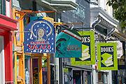 Shopping at Haight Ashbury District in San Francisco California