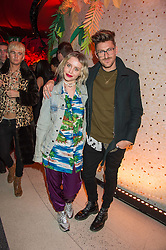 BILLIE JD PORTER and HENRY HOLLAND at the 3rd anniversary party of Sushisamba at the Heron Tower, 110 Bishopsgate, City of London on 10th November 2015.