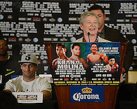 Dec 12,2012. Los Angeles CA. USA. British consulate-general of Los Angeles Dame Barbara Hay speaks during the  Amir Khan vs Carlos Molina press conference. The fight will be scene on ShowTime live from the Los Angeles Sports Arena. Photo by Gene Blevins/LA Daily News