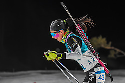 February 12, 2018 - Pyeongchang, Gangwon, South Korea - Fuyuko Tachizaki of Japan competing at Women's 10km Pursuit, Biathlon, at olympics at Alpensia biathlon stadium, Pyeongchang, South Korea. on February 12, 2018. (Credit Image: © Ulrik Pedersen/NurPhoto via ZUMA Press)