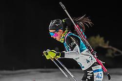 February 12, 2018 - Pyeongchang, Gangwon, South Korea - Fuyuko Tachizaki ofJapan competing at Women's 10km Pursuit, Biathlon, at olympics at Alpensia biathlon stadium, Pyeongchang, South Korea. on February 12, 2018. (Credit Image: © Ulrik Pedersen/NurPhoto via ZUMA Press)