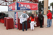 ANAHEIM, CA - MAY 22:  Fans cue up to an official fan club booth outside the stadium before the game between the Atlanta Braves and the Los Angeles Angels of Anaheim on Sunday, May 22, 2011 at Angel Stadium in Anaheim, California. The Angels won the game 4-1. (Photo by Paul Spinelli/MLB Photos via Getty Images)