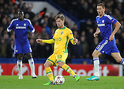 Sporting Lisbon's Adrien Silva during the UEFA Champions League match between Chelsea and Sporting Lisbon at Stamford Bridge, London, England on 10 December 2014.