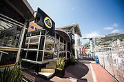 May 20-24, 2015: Monaco Grand Prix - Lotus F1 team motorhome.