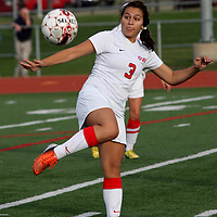 Southwestern High Schools Cassie Butler during soccer action against Westfield New York photo by Mark L. Anderson