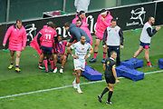 Jonathan DANTY (Stade Francais) scored a try and celebrated it with Djibril Camara (Stade Francais), Joe ROKOCOKO (Racing Metro 92) during the French Championship Top 14 Rugby Union match between Stade Francais Paris and Racing Metro 92 on April 30, 2017 at Jean Bouin stadium in Paris, France - Photo Stephane Allaman / ProSportsImages / DPPI