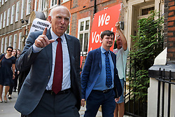© Licensed to London News Pictures. 22/07/2019. London, UK. Out going Liberal Demoract Leader VINCE CABLE  is seen in Westminster, London. Photo credit: Ben Cawthra/LNP