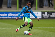 Forest Green Rovers Dale Bennett(2) warming up during the EFL Sky Bet League 2 match between Forest Green Rovers and Mansfield Town at the New Lawn, Forest Green, United Kingdom on 24 March 2018. Picture by Shane Healey.