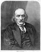 Richard Owen (1804-1892) English anatomist and paleontologist. He coined the word 'dinosaur' (terrible lizard) in 1841. Opposed Darwin's theory of natural selection. Director of the Natural History  Museum, London.  From 'The Illustrated London News', (London, 3 February 1872). Engraving.