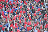 Ole Miss students at Ole Miss vs. Alabama at Vaught-Hemingway Stadium in Oxford, Miss. on Saturday, October 4, 2014. Ole Miss won 23-17.