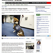 "Screen grab of ""US security at Shannon Airport"" published in The Star Tribune"