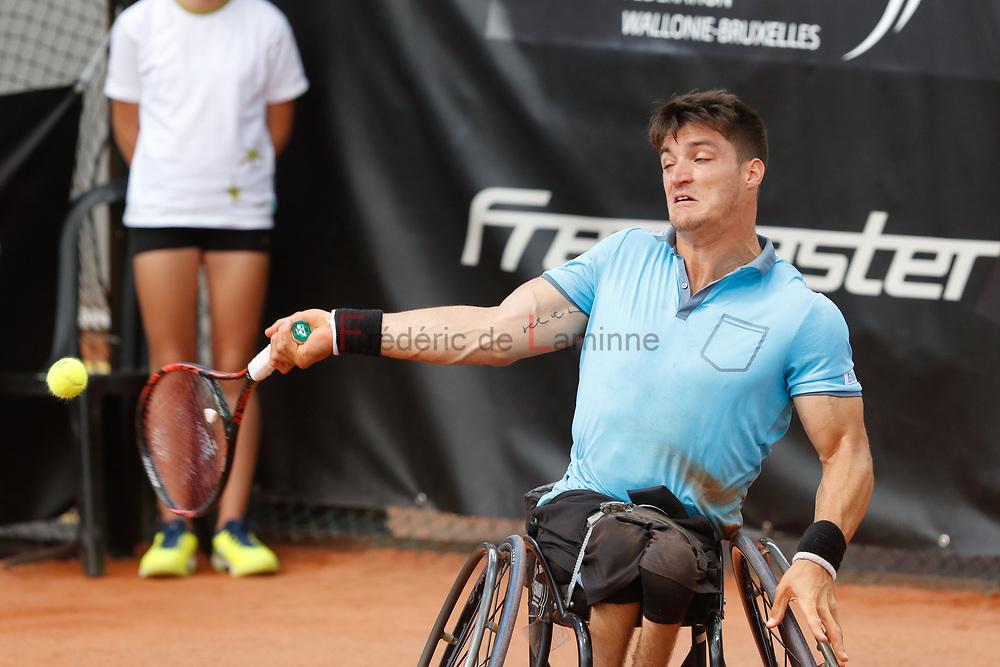20170730 - Namur, Belgium : Gustavo Fernandez (ARG) returns the ball during his finale against Nicolas Peifer (FRA) at the 30th Belgian Open Wheelchair tennis tournament on 30/07/2017 in Namur (TC Géronsart). © Frédéric de Laminne