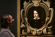 UNITED KINGDOM, London: 27 February 2018 A visitor takes a close look at Bartolomé Esteban Murillo's 'Portrait of Count Diego Ortiz de Zúñiga' (about 1655) at the new exhibition entitled 'Murillo: The Self Portraits' at The National Gallery in London this morning. <br /> The exhibition marks the 400th anniversary of one of the most celebrated Spanish artists. <br /> Rick Findler  / Story Picture Agency