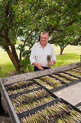 New Zealand, South Island, Marlborough, asparagus agriculture with Paul Scott of Scott's Asparagus. Photo copyright Lee Foster. Photo # 126441