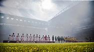 FODBOLD: De to hold linet op før finalen i DBU Pokalen mellem FC København og Brøndby IF den 25. maj 2017 i Telia Parken, København. Foto: Claus Birch