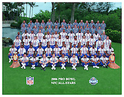 KAPOLEI - FEBRUARY 10:  The National Football Conference NFC all-stars pose for a team photo at the 2006 NFL Pro Bowl at the Ko Olina Resort on February 10, 2006 in Kapolei, Hawaii. ©Paul Spinelli/SpinPhotos