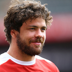 Warren Whiteley (captain) of the Emirates Lions during the Emirates Lions Captain Run at the Emirates Airlines Park, South Africa. 23 February 2018 (Photo by Steve Haag/UAR)