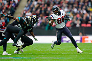 Houston Texans Tight End Jordan Akins (88) in action during the International Series match between Jacksonville Jaguars and Houston Texans at Wembley Stadium, London, England on 3 November 2019.