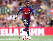 Ousmane Dembele of FC Barcelona during the Joan Gamper trophy game between FC Barcelona and CA Boca Juniors in Camp Nou Stadium at Barcelona, on 15 of August of 2018, Spain, Photo Pressinphoto / Pro Shots / ProSportsImages / DPPI